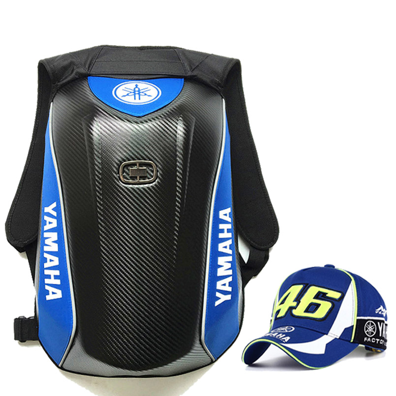 Carbon Fiber GP motorcycle for yamaha kawasaki backpack Moto Motocross riding DH helmet bag ninja hat with keychain Waterproof motorcycle bag top case motogp moto bags for yamaha racing riding cycling water bag dh mx atv mtb suit case motocross backpack