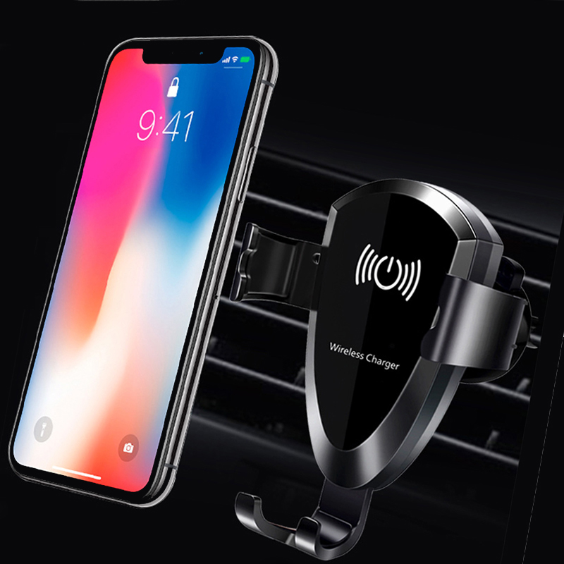 EtopLink Car Mount Qi Wireless Charger For iPhone XS MAX X XR Fast Wireless Charging Car Phone Holder For Samsung Note 9 S9 10W