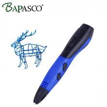 Factory Outlet BAPASCO 3D Pen Low Temperature OLED Screen 3D Magic Pen Kids Toys Intelligent Drawing Tools 3D Doodler 1.75mm PCL