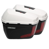 Motorcycle box side box 23L Upturn and open