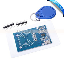 MFRC-522 RC522 RFID RF IC Card Inductive Module + S50 White Card + Key Ring for Arduino