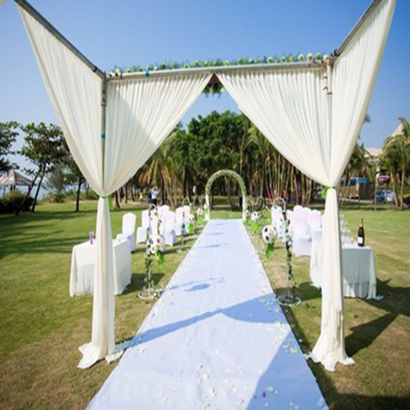 MHAIXM Newest Wedding Celebration Party Carpet Rug Aisle Runner Decoration Colorful White Nonwoven Rug Aisle Runner 1m Width