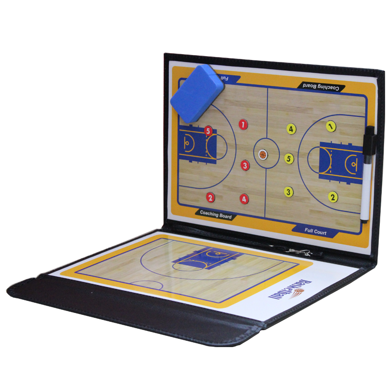 Foldable Coach Basketball Board Tactic Coaching Basketball Tactical Board Portable Competition Game Training Magnet Clipboard