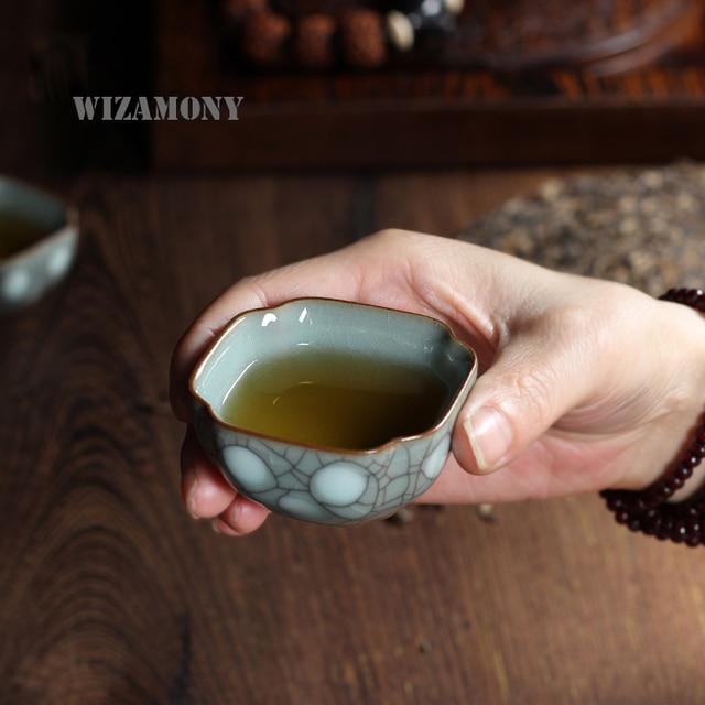 1PCSChinese Longquan Celadon Porcelain Kung Fu China Teacups Tea Bowl 40ml,Chinese Tea Pot Coffee Cup High Quality Free Shipping