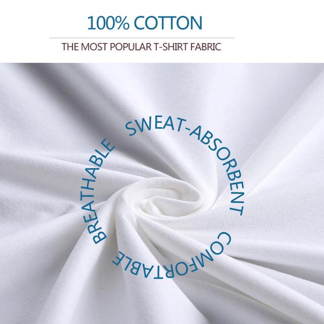 Men's Round Neck Organic Cotton Plus Size T-Shirt