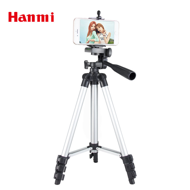 Hanmi New Universal Portátil Leve Câmera Tripé Para Telefone Celular Smartphone Tripé Para Canon Sony Nikon Tripé Compacto