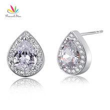 Pavo real Estrella 1 Ct Creado Diamante 925 Pendientes de Plata Esterlina Joyería de la dama de Honor CFE8032