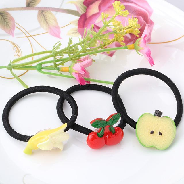 Elastic Hair Band with Fruit Shaped Decoration