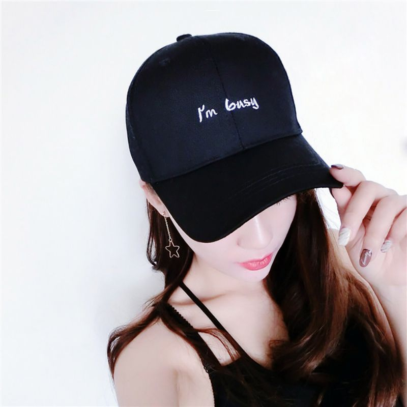 2018 New Summer Outdoor Hiking Hat Female Caps Hat New Style I am Busy Men Women Brand Sport Women Sunscreen cap