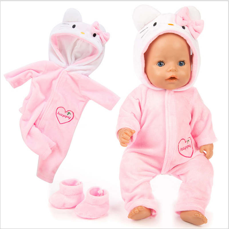 Born New Baby  Doll Clothes Fit 18 Inch 40-43cm Doll Unicorn Ostrich Cat Pony Accessories Clothes For Baby Birthday Gift
