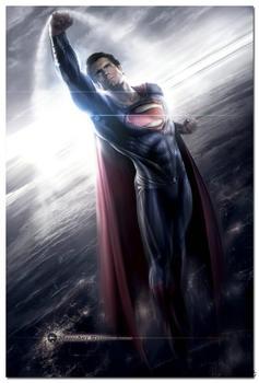 Плакат гобелен шелковый Супермен