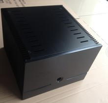 DIY case 245*180*257mm Height 180mm black Full aluminum Power amplifier CASE/Class A desktop amplifier box/AMP case Enclosure