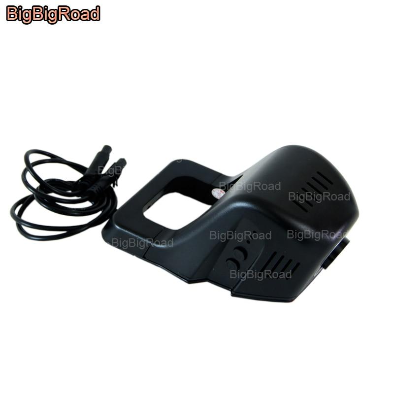цена на BigBigRoad Car Dash Cam For Buick Regal buick gl8 2014 Enclave excelle xt / gt Verano Wifi DVR Novatek 96655 Dual lens Black Box