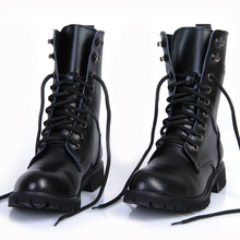 British trend motorcycle boots leather Korean male spring cowhide SUB2314