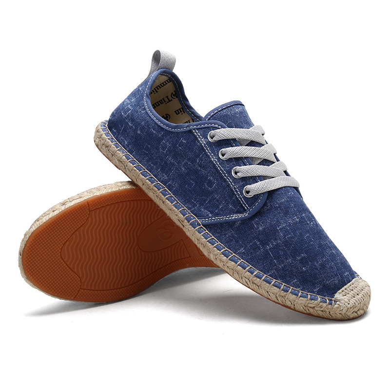 KOZLOV Summer Canvas Shoes Men Plimsolls Designer Espadrilles 2018 Fashion Fisherman Breathable Lace Up Shoes Casual Alpargatas 4