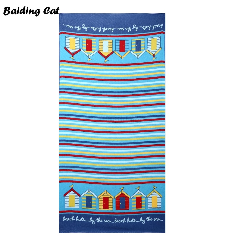 2018 New Microfiber Beach Towel Adults 70*150cm Slipper Sunglass Printed Bath Towels Quicky-dry Camping Large Sport Towels 250G