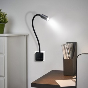 Image 4 - Plug In Dimmable LED Wall Spot Light Flexible LED Reading Spot Lamp with Power Socket Plug Natural White Lighting Normal Version