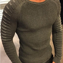 Fashion O Neck Long Sleeve Knitting Men Sweater Casual Slim Fit Pullover Top