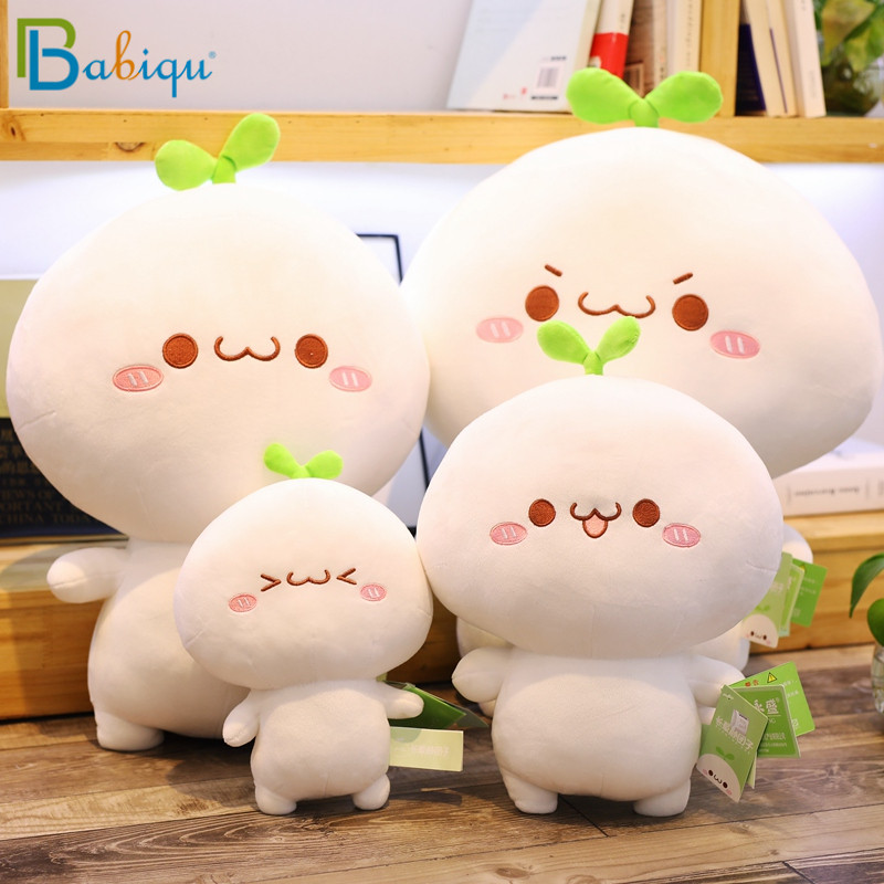 25-65cm Creative Kawaii Kaomoji Dumpling Toys Stuffed Lovely Emoji Animal Plush Doll For Kids Soft Pillow Girls  Valentine Gift