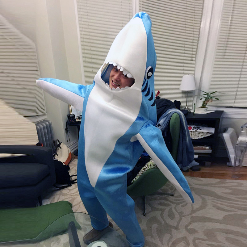 2 цвета Акула от Pixar анимационный Плёнки качество Делюкс взрослых Для мужчин синий и серый Акула для Хэллоуина удобные Косплэй костюм - 5