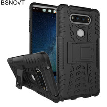 For LG V20 Case Soft TPU +Hard Plastic Phone Holder Bumper Anti-knock Cover F800 Funda BSNOVT