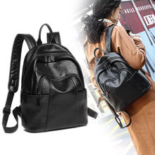 New Products Fashion Casual Women Backpack High Quality Youth Leather Backpacks for Teenage Girls Female School Shoulder Bag