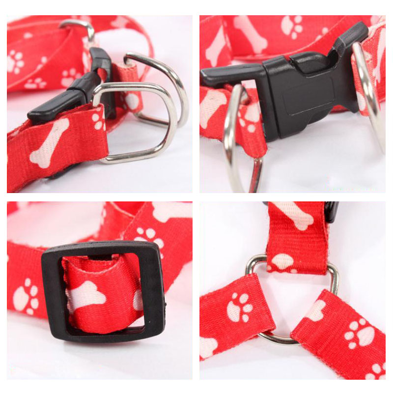 Nylon Dog Pet Puppy Cat Adjustable Harness with Lead Leash 10 Colors To Choose Toys Leash Chain Collars Interactive Toy
