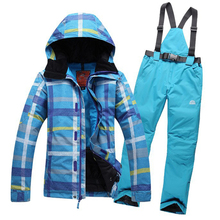 2016 women ski jacket color matching snowboarding jacket skiing jacket for women Skiwear suit waterproof breathable