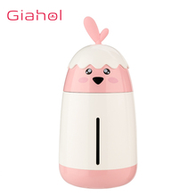купить Portable Air Humidifier 200ML Cute Chicken Car Mini USB Ultrasonic 3 Colors Air Humidifiers With LED Night Light For Office Home дешево
