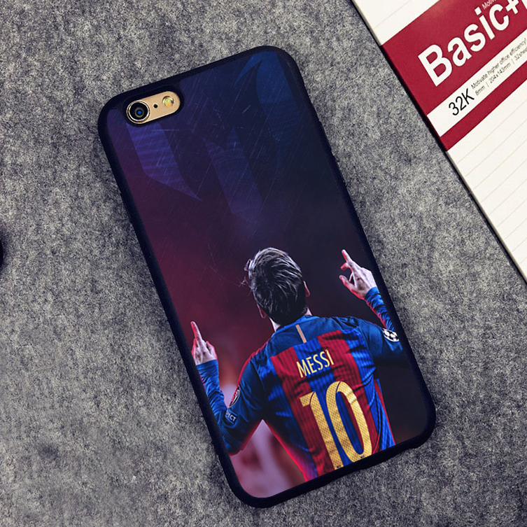 Sport Football Messi Soccer player Soft Silicone Protective case Cover For iPhone X 8 7 7Plus 6 6S Plus 5 5S SE