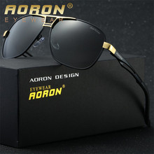 Aoron Mens Luxury Brand Polarized Sunglasses LOGO Original Box Sun Glasses Goggles Womens Designer Leisure Glasses oculos de sol