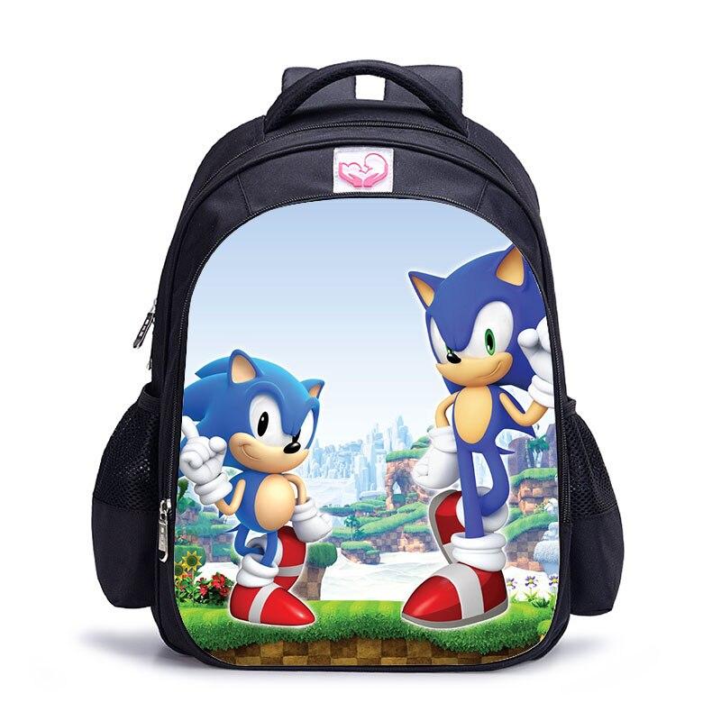 9b27d17eed Bambini Sonic The Hedgehog zaino bello zaino per i ragazzi e le ragazze  bello Zainetto zaino ortopedico mochila escolar