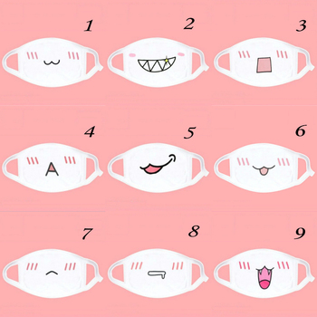 1Pc Kwaii Cute Anti Dust Mask Kpop Cotton Mouth Mask Anime Cartoon Mouth Muffle Face Mask Emotiction Masque Kpop Masks