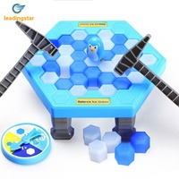 LeadingStar Interactive Table Desktop Game Breaking Ice Cube Block Pounding Save Penguin Puzzle Toys