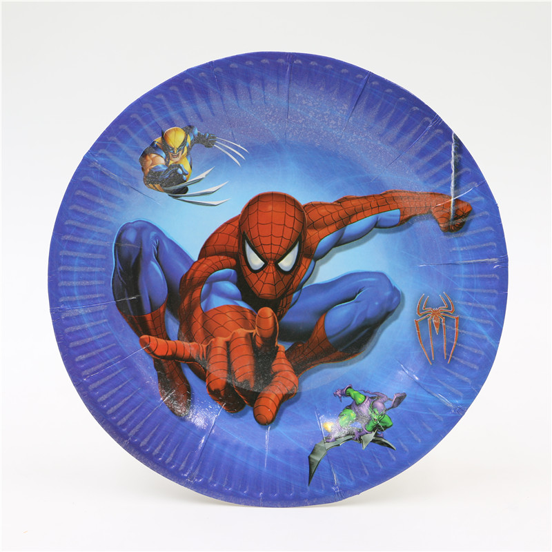 10Pcs/Lot 7inch Cartoon Spiderman Theme Quality Party Paper Plates Boy Birthday Party Supplies Party Plates-in Disposable Party Tableware from Home \u0026 Garden ... & 10Pcs/Lot 7inch Cartoon Spiderman Theme Quality Party Paper Plates ...