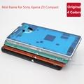 Marco Medio Original para Sony Xperia Z3 Compacto D5803 D5833 Marco Bisel Vivienda Chasis Placa Frontal de Repuesto piezas de Repuesto