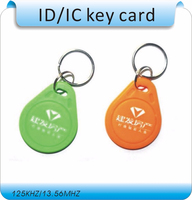 Free shipping 100pcs/Lot include printing logo 125KHZ RFID Tag Proximity ID Token Tag Key Ring /access control card