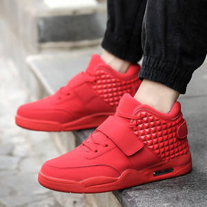 47004519cf31c0 High Quality Sport Men Sneakers Winter Autumn Outdoor Increased Ankle Boots  Breath Comfortable Running Shoes red basket homme