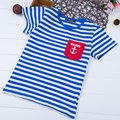 Boys Stripes Printed Cotton Round Neck T-shirt for Girls Boys Kids Shirts Tops Baby Clothes Summer Children Tshirts Boy T shirt