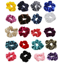 Velvet Hairline Womens Hair Accessories Scissors Head Flower Scrunchies Scrunchy Bobbles Elastic Bands Holder