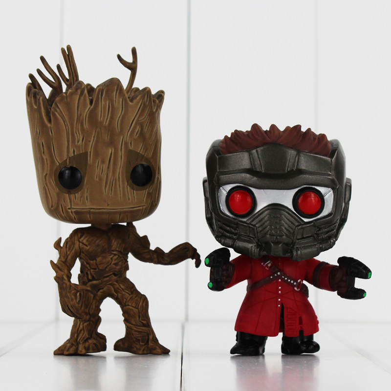 Funko POP Guardians of The Galaxy Star Lord Groot Figure Toy POP 47 49 Vinyl Model Doll for Collection new funko pop guardians of the galaxy tree people groot