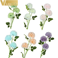 3 Heads Artificial Dandelion Flower Silk Hyacinth Flower Wedding Decoration for Home Party Hotel Garden Decorations