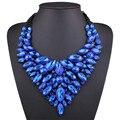 Nueva moda de cristal de bohemia de grandes collares pendientes declaración choker collar grande maxi collar mujeres joyería de la boda africana