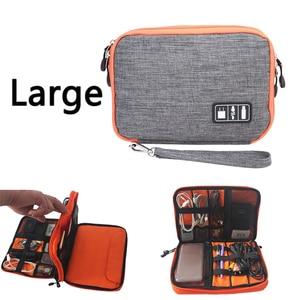 Image 5 - waterproof Ipad organizer USB data cable earphone wire pen power bank travel storage box kit case digital gadget devices