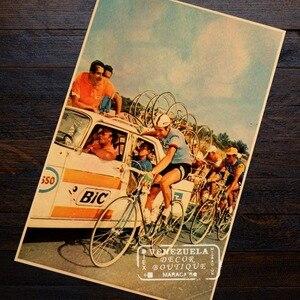 В игре, велосипед упражнения, спорт, классика, ретро, винтаж, крафт-плакат декоративный DIY настенный холст, наклейка, домашний бар, постеры, Де...