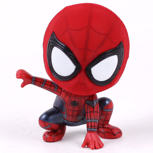 Marvel Spider Man Homecoming The Spiderman Q Version Mini PVC Figures Toys Car Home Decoration Doll 5 Styles 4