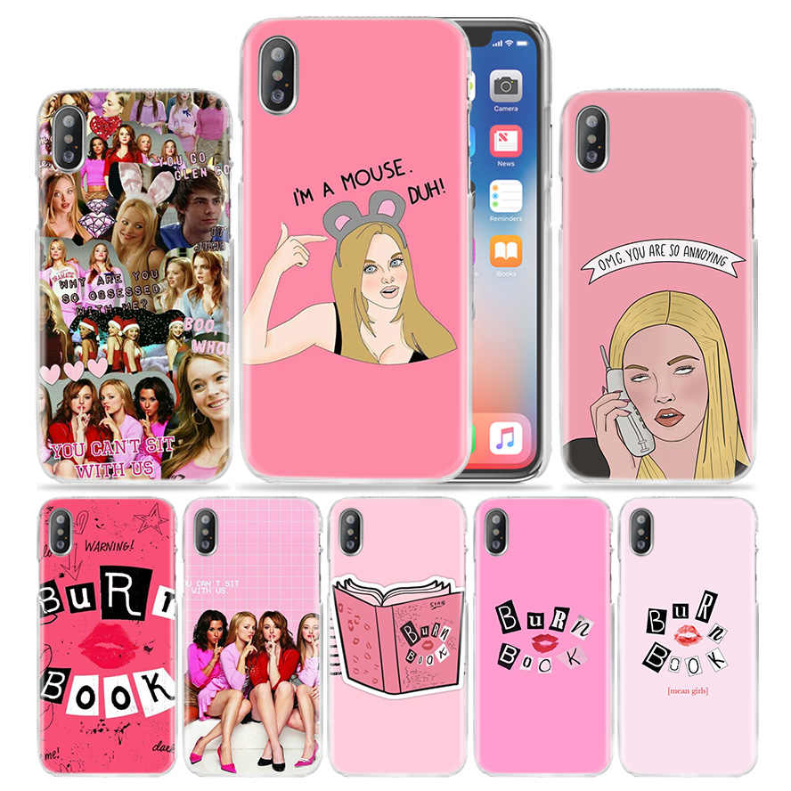 Mean Girls Burn Book Case สำหรับ iPhone XS Max XR X 10 7 7 S 8 6 6 S Plus 5 S SE 5 5 5 5 5 5 S 4 5C 6 + 6 S + 7 + 8 + Hard PC TV แสดงฝาครอบโทรศัพท์