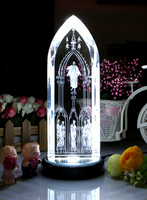 Special offer TOP Art Collectible collection Home Decor Decoration Religious 3D Jesus blessing Jesus Christ Crystal Image