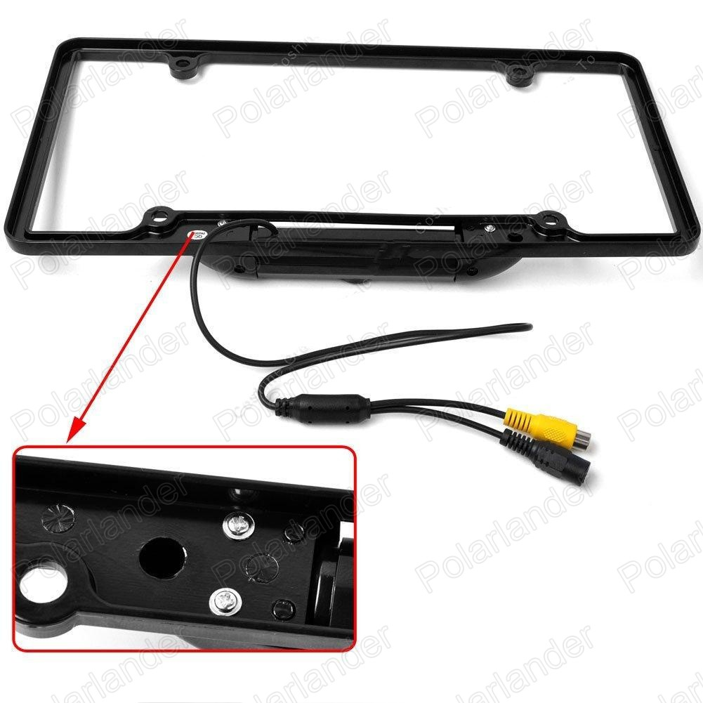 Universal Car License Plate Frame Rear View Backup Camera 135 Degree ...