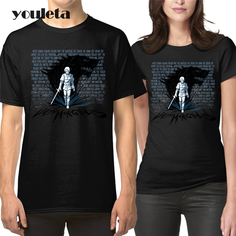 8a7c4134cb0 Couple Dress For Lovers Clothes 2018 Fashion Summer Holiday Wear Short  Sleeve Cotton Tops Arya Stark Matching Couple T Shirts-in T-Shirts from  Men s ...